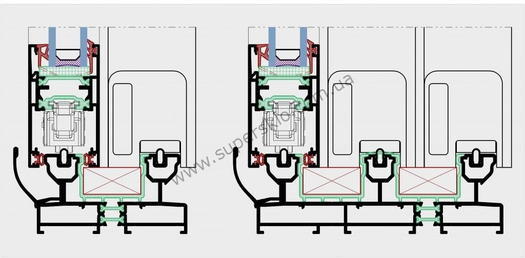 подъемно-раздвижные двери окна купить  sliding door