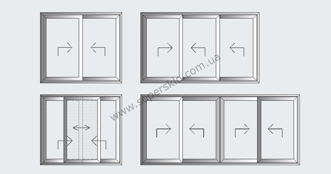 Раздвижные алюминиевые двери в киеве и харькове остекление. .
