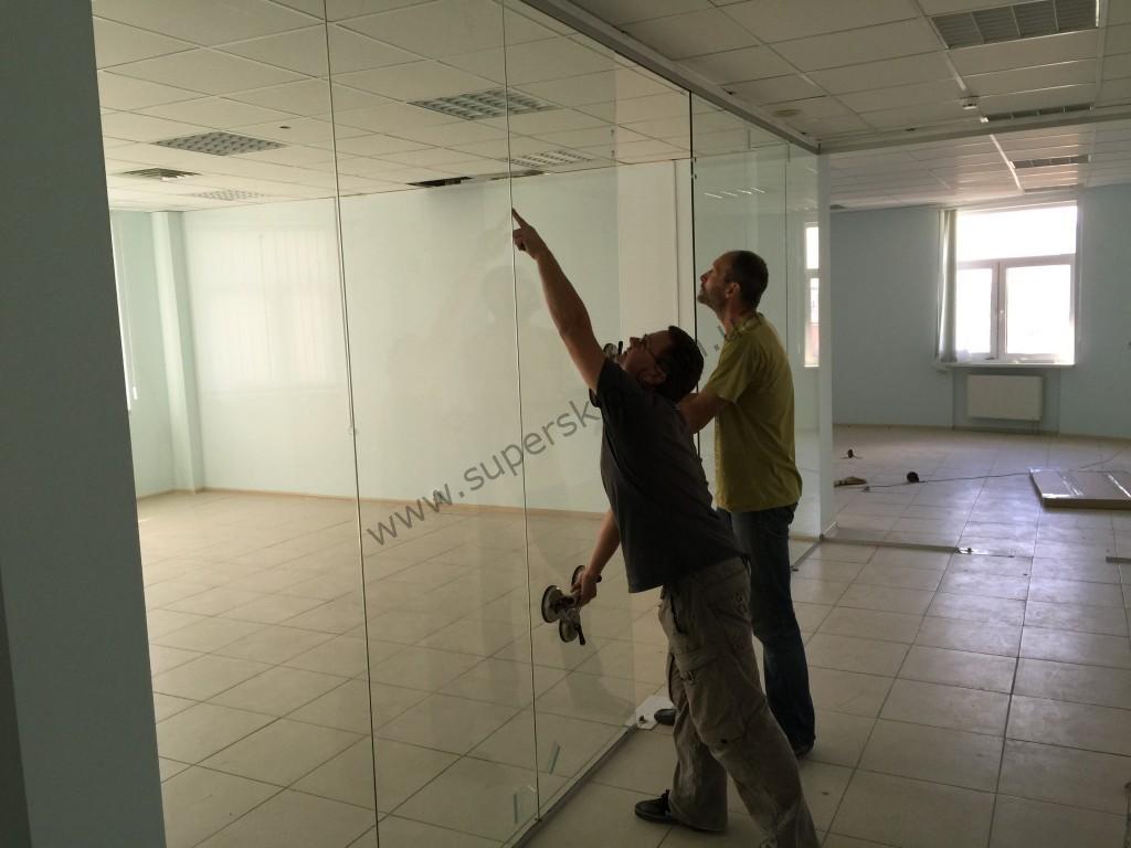 монтаж стеклянных перегородок Харьков