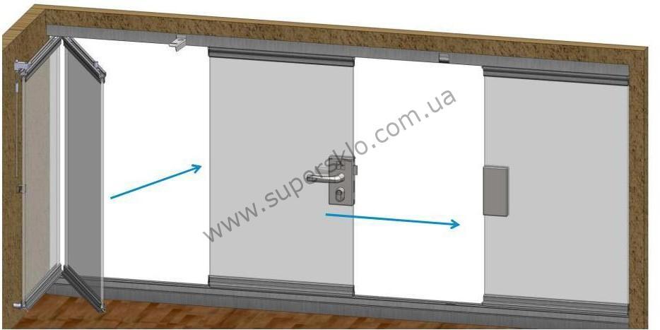 Раздвижной балкон стеклянный