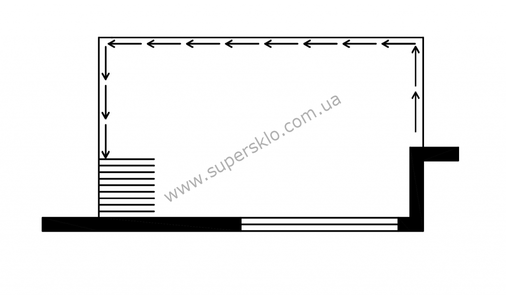 стеклянный балкон 3