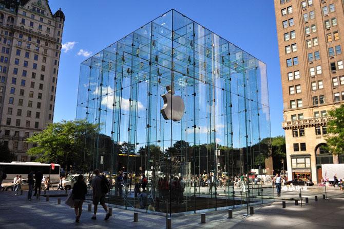 Стеклянный вход apple