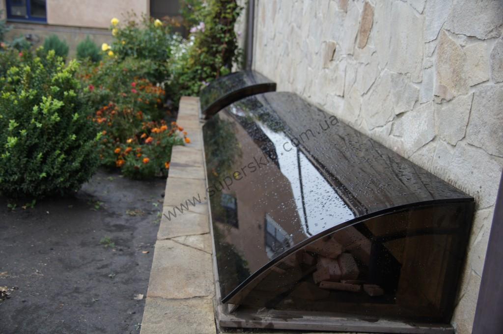 Стеклянный козырек в Харькове