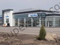 Фасадное остекление автосалона Акура